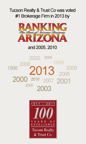 Tucson Realty and Trust Voted Number 1 by Arizona Ranking